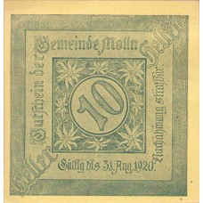 Molln O.Ö. Gemeinde, 1x10h, 1x20h, 1x50h, Set of 3 Notes, FS 625