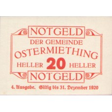 Ostermiething O.Ö. Gemeinde, 1x20h, 1x40h, 1x50h, 1x75h, Set of 4 Notes, FS 713IVe