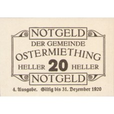 Ostermiething O.Ö. Gemeinde, 1x20h, 1x40h, 1x50h, 1x75h, Set of 4 Notes, FS 713IVg