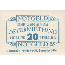 Ostermiething O.Ö. Gemeinde, 1x20h, 1x40h, 1x50h, 1x75h, Set of 4 Notes, FS 713IVa