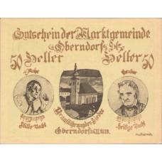 Oberndorf a.d. Salzach Sbg. Marktgemeinde, 1x10h, 1x20h, 1x50h, Set of 3 Notes, FS 690a