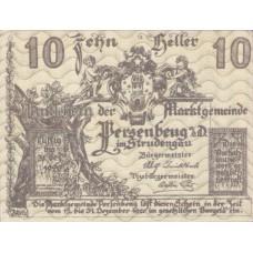 Persenbeug N.Ö. Marktgemeinde, 1x10h, 1x20h, 1x50h, Set of 3 Notes, FS 735IIa