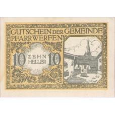 Pfarrwerfen Sbg. Gemeinde, 1x10h, 1x20h, 1x50h, 1x80h, Set of 4 Notes, FS 745b