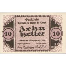 Reith Tirol Gemeinde, 1x10h, 1x20h, 1x50h, Set of 3 Notes, FS 831a