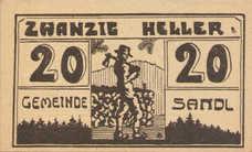 Sandl O.Ö. Gemeinde, 20 Heller, FS 874Ibx Error