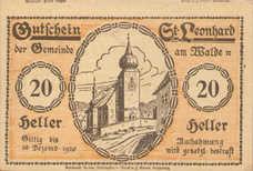 St. Leonhard am Walde N.Ö. Gemeinde, 20 Heller, FS 902cx Error