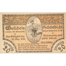 Schönbichl N.Ö. Gemeinde, 1x10h, 1x20h, 1x50h, Set of 3 Notes, FS 969IIf