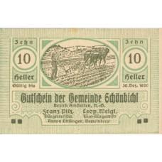 Schönbichl N.Ö. Gemeinde, 1x10h, 1x20h, 1x50h, Set of 3 Notes, FS 969Ih