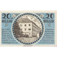 Schwarzach im Pongau Sbg. Marktgemeinde, 1x10h, 1x20h, 1x50h, Set of 3 Notes, FS 978