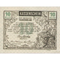 Tausendblum N.Ö. Gemeinde, 1x10h, 1x20h, 1x50h, Set of 3 Notes, FS 1060