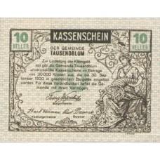 Tausendblum N.Ö. Gemeinde, 1x10h, 1x20h, 1x50h, Set of 3 Notes, FS 1060