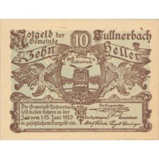 Tullnerbach N.Ö. Gemeinde, 1x10h, 1x20h, 1x50h, Set of 3 Notes, FS 1084