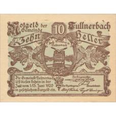 Tullnerbach N.Ö. Gemeinde, 1x10h, 1x20h, 1x50h, Set of 3 Notes, FS 1084