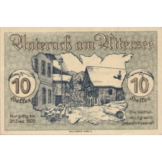 Unterach O.Ö. Gemeinde, 1x10h, 1x20h, 1x50h, Set of 3 Notes, FS 1093a