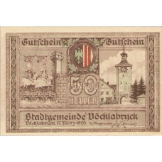 Vöcklabruck O.Ö. Stadt, 1x10h, 1x20h, 1x50h, Set of 3 Notes, FS 1116IIa