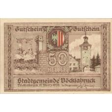 Vöcklabruck O.Ö. Stadt, 1x10h, 1x20h, 1x50h, Set of 3 Notes, FS 1116IIa