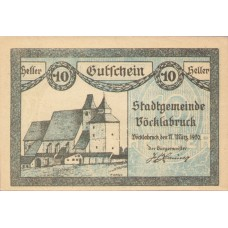Vöcklabruck O.Ö. Stadt, 1x10h, 1x20h, 1x50h, Set of 3 Notes, FS 1116IIb
