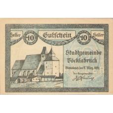 Vöcklabruck O.Ö. Stadt, 1x10h, 1x20h, 1x50h, Set of 3 Notes, FS 1116IIb
