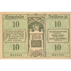 Zeillern N.Ö. Gemeinde, 1x10h, 1x20h, 1x50h, Set of 3 Notes, FS 1263e