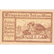 Zell am Moos O.Ö. Ortsgemeinde, 1x10h, 1x20h, 1x50h, Set of 3 Notes, FS 1268