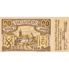 Zell An Der Ybbs N.Ö. Marktgemeinde, 1x10h, 1x20h, 1x50h, Set of 3 Notes, FS 1272a