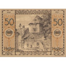 Wachauer Notgeld N.Ö. Gemeinden, 4x50h, Set of 4 Notes, FS 1122.1IIId