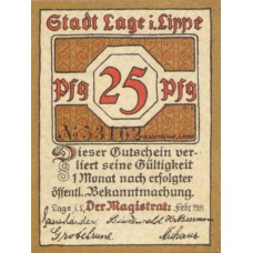 Lage Stadt, 1x25pf, 1x50pf, Set of 2 Notes, 757.2