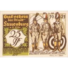 Lauenburg a.d. Elbe Stadt, 1x25pf, 1x50pf, 1x1mk, Set of 3 Notes, 774.2