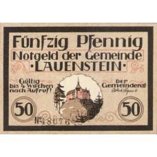 Lauenstein Gemeinde, 1x50pf, Set of 1 Note, 775.2