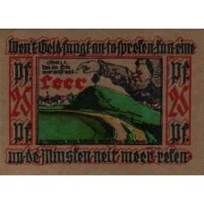 Leer Verein für Heimatschutz, 1x25pf, 2x50pf, 2x75pf, 1x1mk, Set of 6 Notes, 782.1