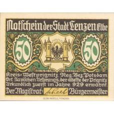 Lenzen a.d. Elbe Stadt, 3x50pf, 3x75pf, Set of 6 Notes, 792.1