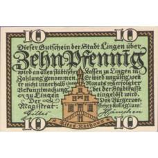 Lingen Stadt, 1x10pf, Set of 1 Note, 803.1