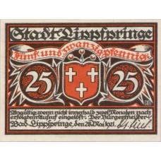 Lippspringe, Bad Stadt, 1x25pf, 1x50pf, 1x75pf, Set of 3 Notes, 805.1