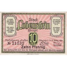Lobenstein Stadt, 1x10pf, 1x25pf, 1x50pf, Set of 3 Notes, 809.1a