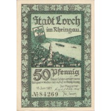 Lorch Stadt, 1x50pf, Set of 1 Note, 815.3c