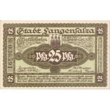 Langensalza Stadt, 1x25pf, 1x50pf, Set of 2 Notes, L12.6a