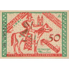 Magdeburg Stadt, 4x50pf, Set of 4 Notes, 857.1