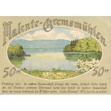 Malente-Gremsmühlen Germeinde, 4x50pf, Set of 4 Notes, 864.3
