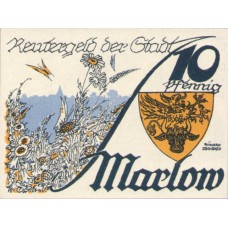Marlow Stadt, 1x10pf, 1x25pf, 1x50pf, Set of 3 Notes, 872.1