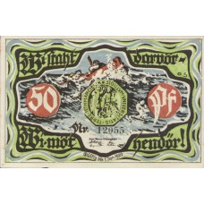 Marne Stadt, 1x50pf, 1x1mk, 1x2mk, Set of 3 Notes, 873.1