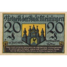 Meiningen Stadt, 1x20pf, Set of 1 Note, 877.3