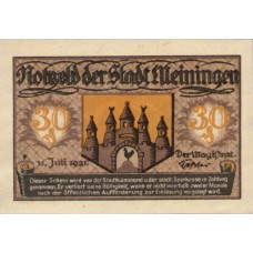 Meiningen Stadt, 1x30pf, Set of 1 Note, 877.4