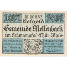 Mellenbach Gemeinde, 1x10pf, 1x20pf, 1x50pf, Set of 3 Notes, 880.1a