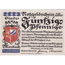 Miesbach Stadt, 1x50pf, Set of 1 Note, 888.1
