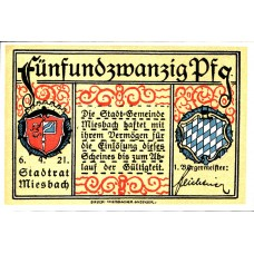 Miesbach Stadt, 1x25pf, Set of 1 Note, 888.2