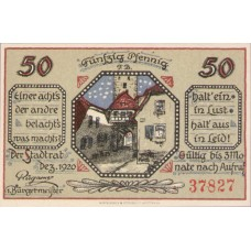 Mainbernheim Stadt, 1x50pf, Set of 1 Note, M3.1