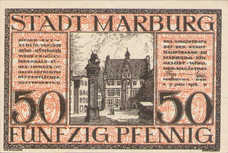 Marburg Stadt, 1x50pf, Set of 1 Note, M7.4