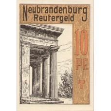 Neubrandenburg Stadt, 1x10pf, 1x25pf, 1x50pf, Set of 3 Notes, 935.1