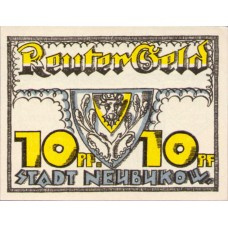 Neubukow Stadt, 1x10pf, 1x25pf, 1x50pf, Set of 3 Notes, 936.1