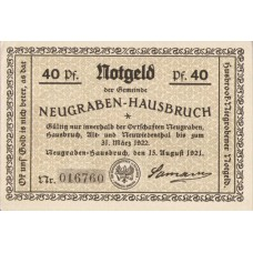 Neugraben-Hausbruch Gemeinde, 1x40pf, 1x60pf, 1x75pf, 1x100pf, Set of 4 Notes, 939.1a